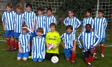 U12s squad which earned a draw against Bedfont